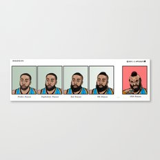 Evolution of J. Harden  Canvas Print