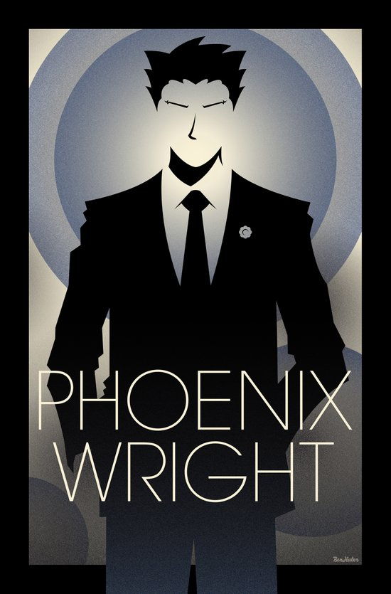 Phoenix Wright - 10th Anniversary Print Canvas Print