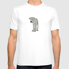 Barney White Mens Fitted Tee SMALL