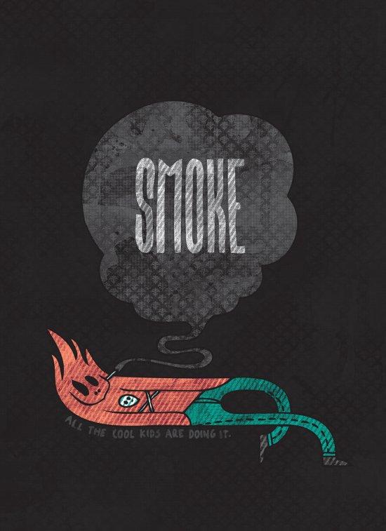 Smoke! Art Print