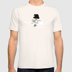 I wonder where Lucy is... Mens Fitted Tee Natural SMALL