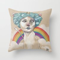 RAINBOW UNICORN Throw Pillow