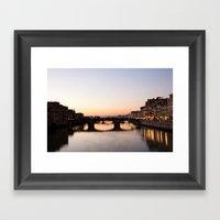 Sunset In Florence Framed Art Print