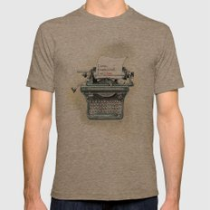 I Will Love.  Mens Fitted Tee Tri-Coffee SMALL