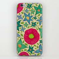 Floral And Leaf iPhone & iPod Skin