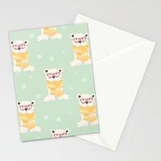 Polar bear pattern 004 Stationery Cards