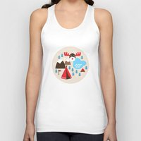 Scandinavian retro moose pattern Unisex Tank Top