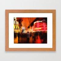 Fremont at Night Framed Art Print