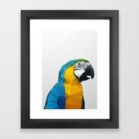Geo - Parrot Framed Art Print