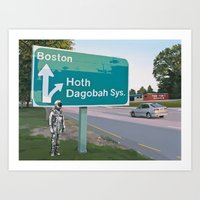 Bear Right For Hoth Art Print