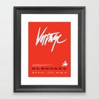 Voltage - Poster Variant Framed Art Print