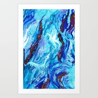 Opal Ocean  Art Print