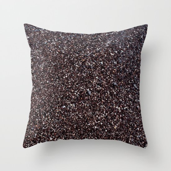 Black Sand IV (Red) Throw Pillow