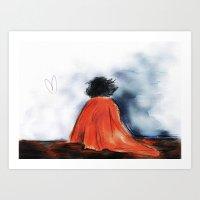 Shock Blanket- BBC's She… Art Print
