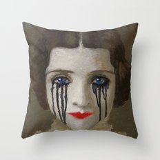 Crying woman Throw Pillow