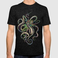 Octopsychedelia Mens Fitted Tee Tri-Black SMALL