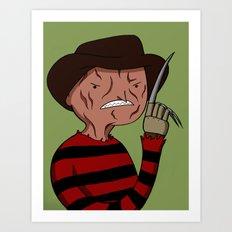 Adventure Time with Freddy Krueger Art Print