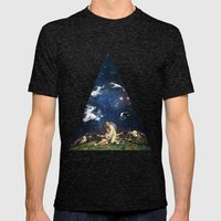 Hiding Mens Fitted Tee Tri-Black SMALL