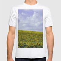 Field of Happiness - Sunflowers  Mens Fitted Tee Ash Grey SMALL
