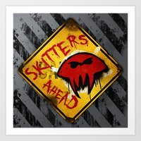 Caution: Skitters Ahead … Art Print