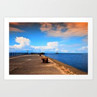 Ayr Pier  Art Print