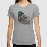 OHS Desk Womens Fitted Tee Athletic Grey SMALL
