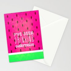 Drinking Watermelon Stationery Cards