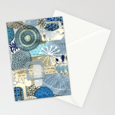 blue collage Stationery Cards