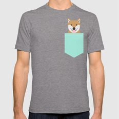 Cassidy - Shiba Inu gifts for dog lovers and cute Shiba Inu phone case for Shiba Inu owner gifts Mens Fitted Tee Tri-Grey SMALL