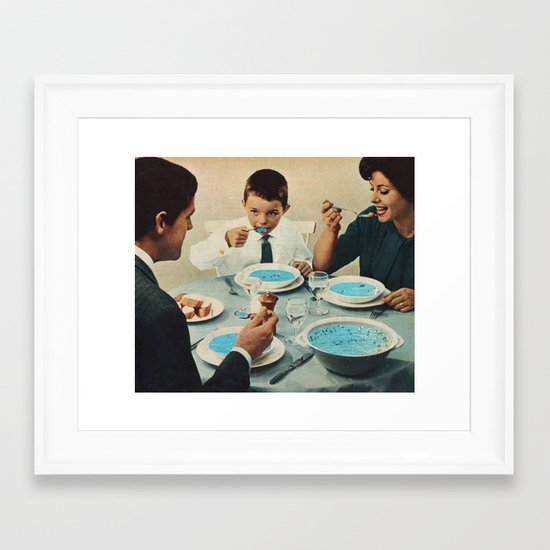 Seafood Framed Art Print