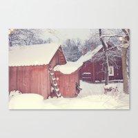 Winter Wonderland- Swede… Canvas Print