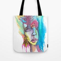 Flowers and a Tree Tote Bag