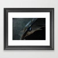 crow feather Framed Art Print