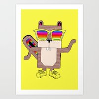 Ricky rainbow glass collection Art Print