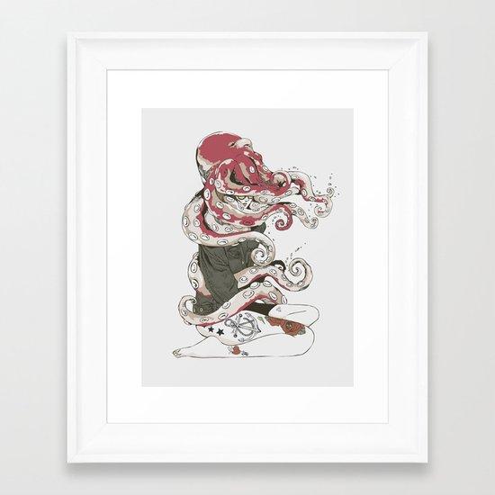 My head is an octopus Framed Art Print
