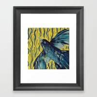 Blue Bird of Happiness Framed Art Print