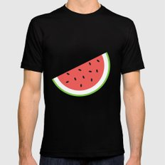 #11 Watermelon Black Mens Fitted Tee SMALL