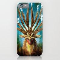 iPhone & iPod Case featuring Princess Mononoke The Deer God Shishigami Tra Digital Painting. by Barrett Biggers
