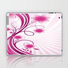 Pretty Pink Flourish and Flower Laptop & iPad Skin