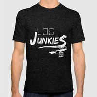 los junkies del barrio Mens Fitted Tee Tri-Black SMALL