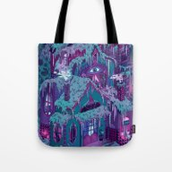 Tote Bag featuring December House by Valeriya Volkova