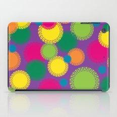 Spikey Circles Purple iPad Case