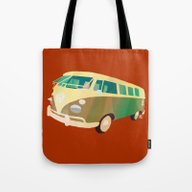 Tote Bag featuring Kombi 1 by Buster Fidez