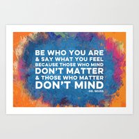 Be Unapologetically You Art Print
