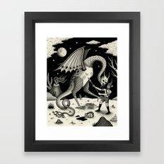 A Fatal Confrontation Framed Art Print