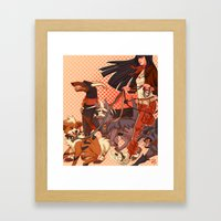 PokeDogs Framed Art Print