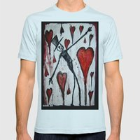 The Death of Hearts Mens Fitted Tee Light Blue SMALL