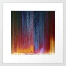 Pixel Curtain Art Print