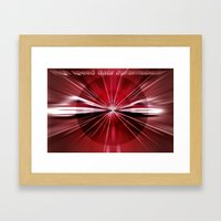 High - speed -  data - transmission. Framed Art Print