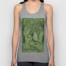 Cute little dragon  Unisex Tank Top